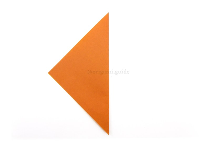 3. Fold the right point over to the left point.