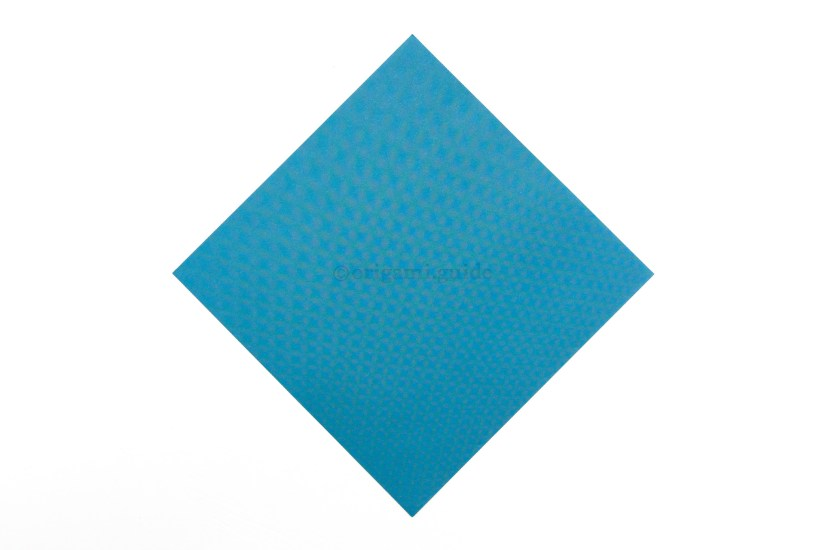 1. This is the front of our origami paper, most of the bird will end up being this colour.