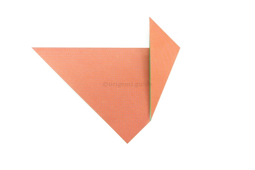 3. Fold the right corner to the left.