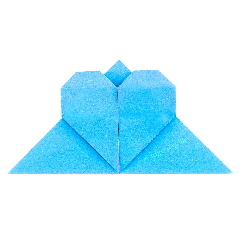 How To Make An Origami Heart Corner Bookmark