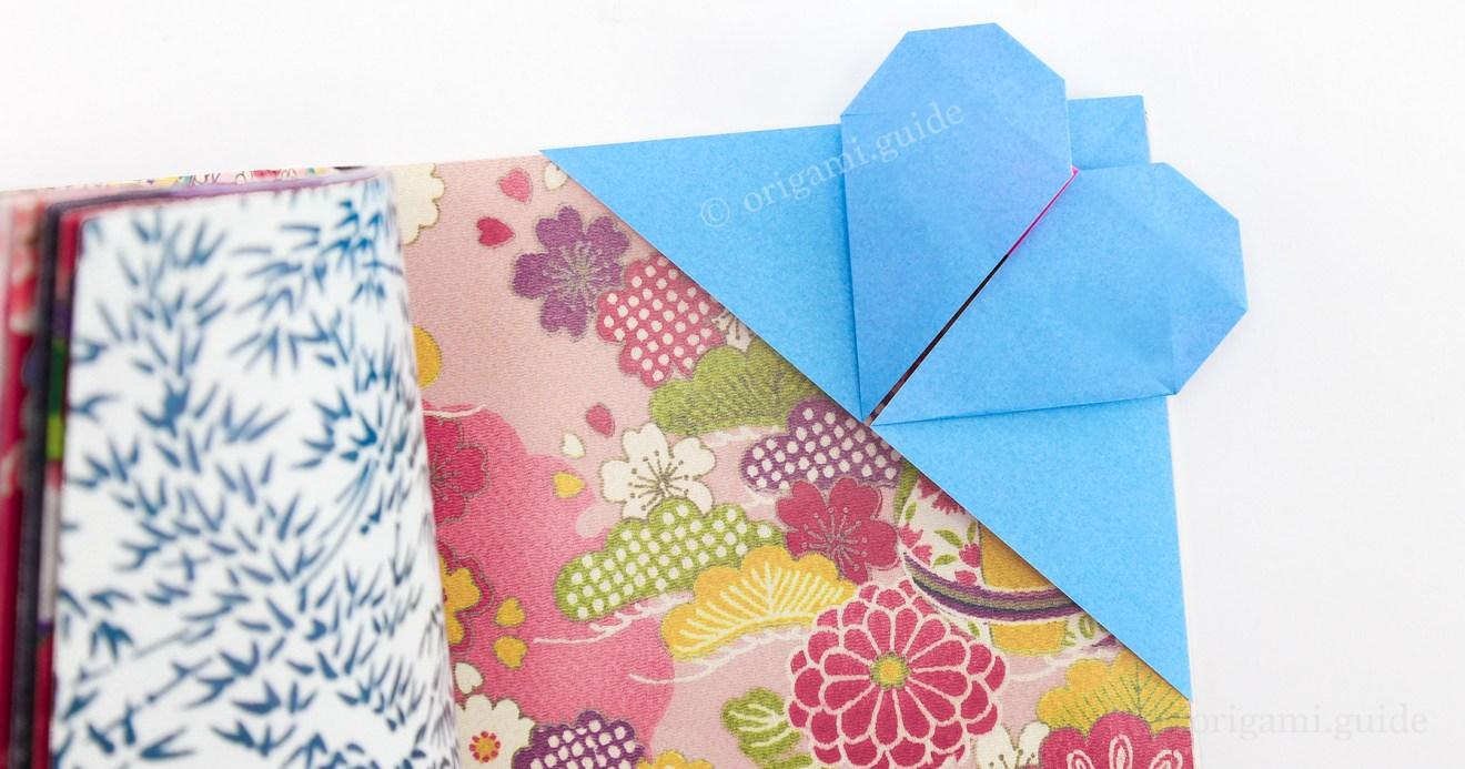 How To Make An Origami Heart Corner Bookmark