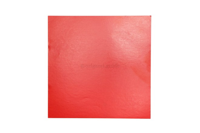 1. This is the front of our origami paper, we want the heart to be this color.