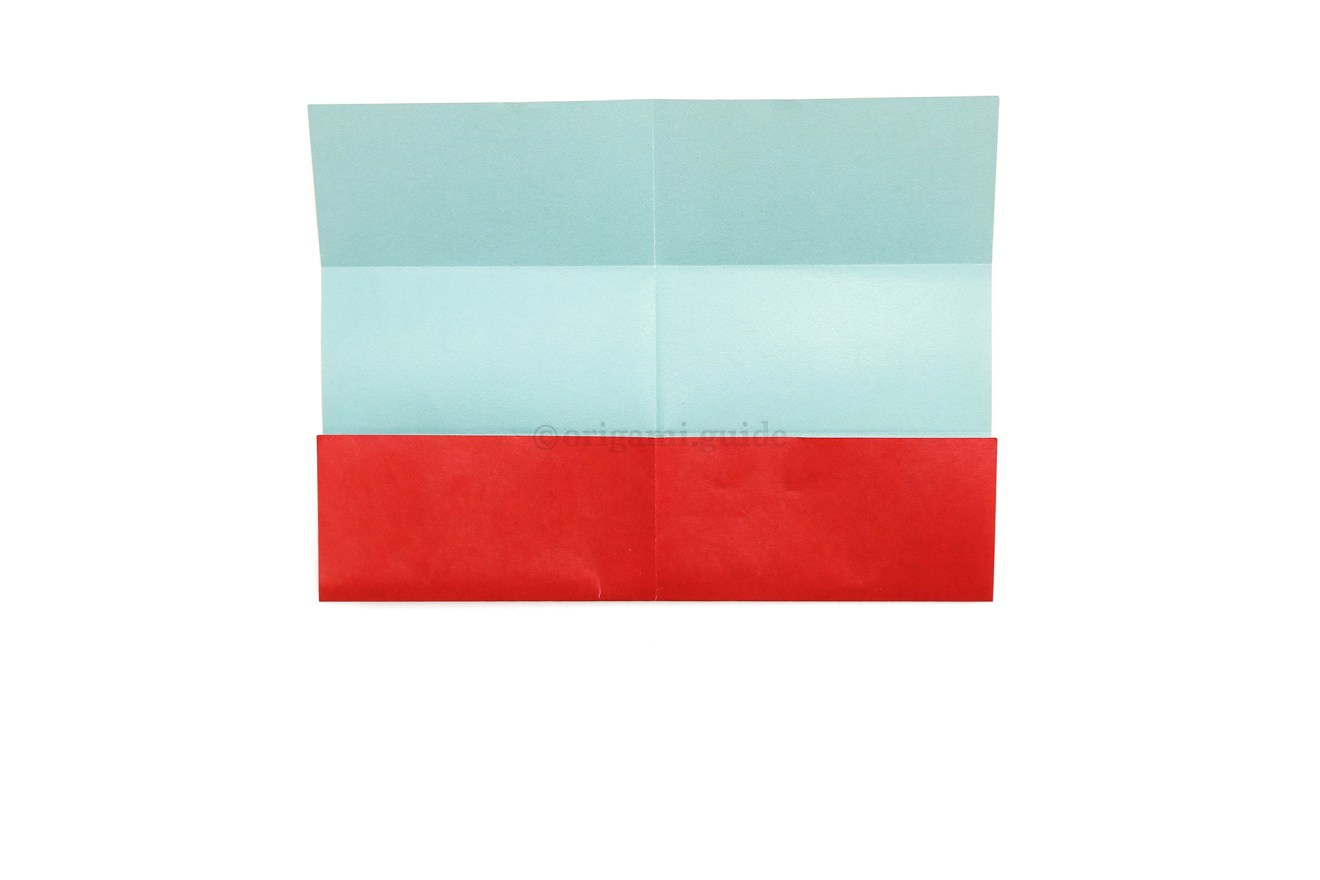 9. Unfold the top flap.