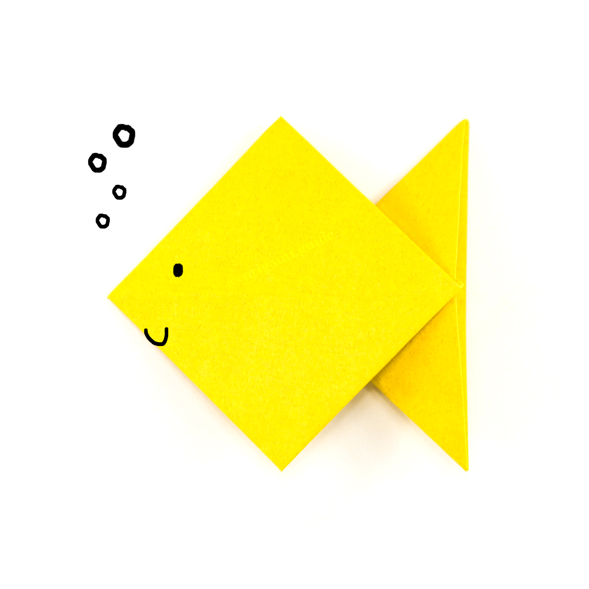 Easy Origami Fish - Origami for Kids - Easy Peasy and Fun | 1920x1920