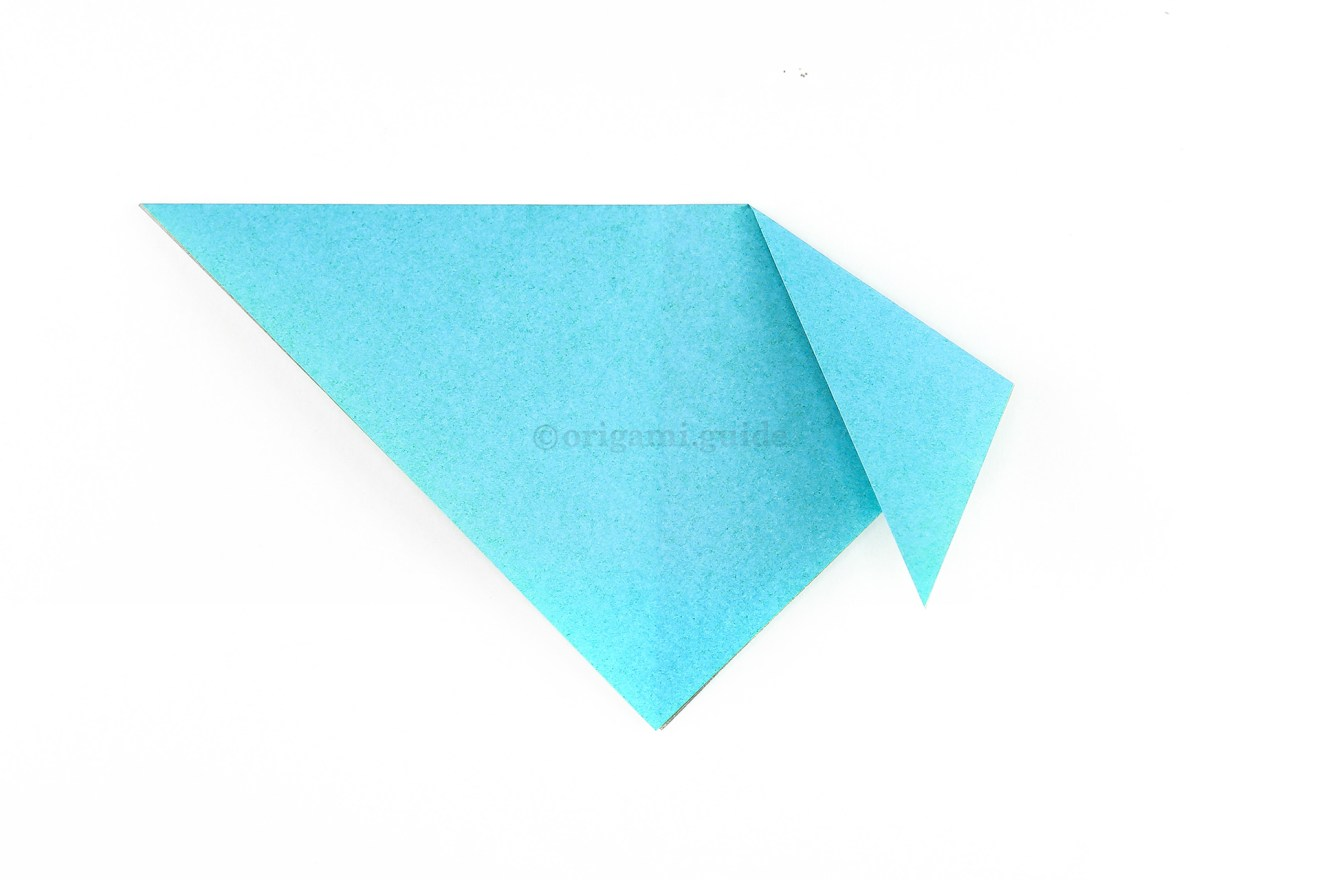 Fold the top right point down into a position similar to this.