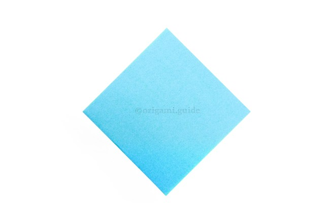 This is the front of the origami paper.