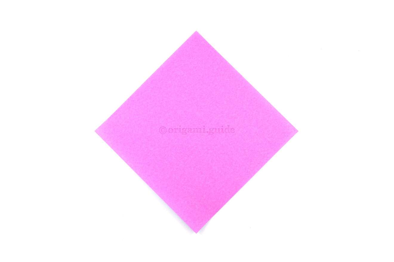 This is the front of your paper, the origami lily will end up this colour.