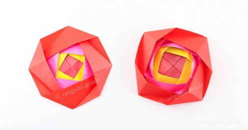 How To Make an Origami Camellia Flower