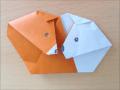 折り紙 クマと白くまの簡単な折り方