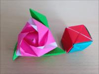 折り紙 マジックローズキューブ バラの花の箱 折り方