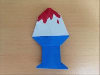 折り紙 かき氷 簡単な折り方