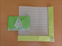 折り紙のウサギの便箋 簡単な折り方