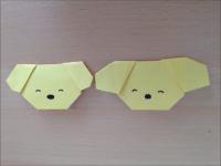 折り紙 犬の顔 簡単な折り方