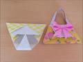 折り紙 ハンドバッグ 簡単な折り方