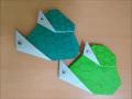 折り紙の親子亀 簡単な折り方