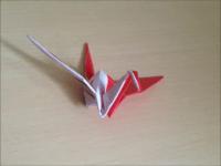 折り紙の紅白の鶴2 簡単な折り方