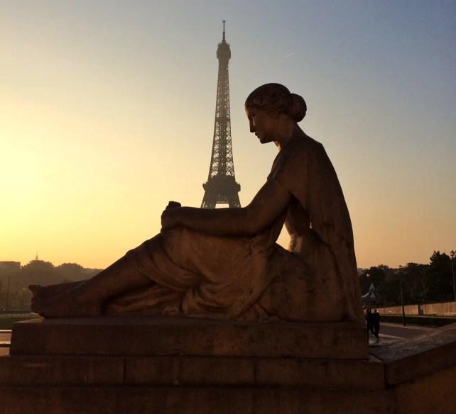 The Eiffel Tower at sunrise