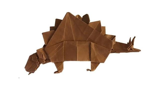 Sophie the Origami Stegosaurus