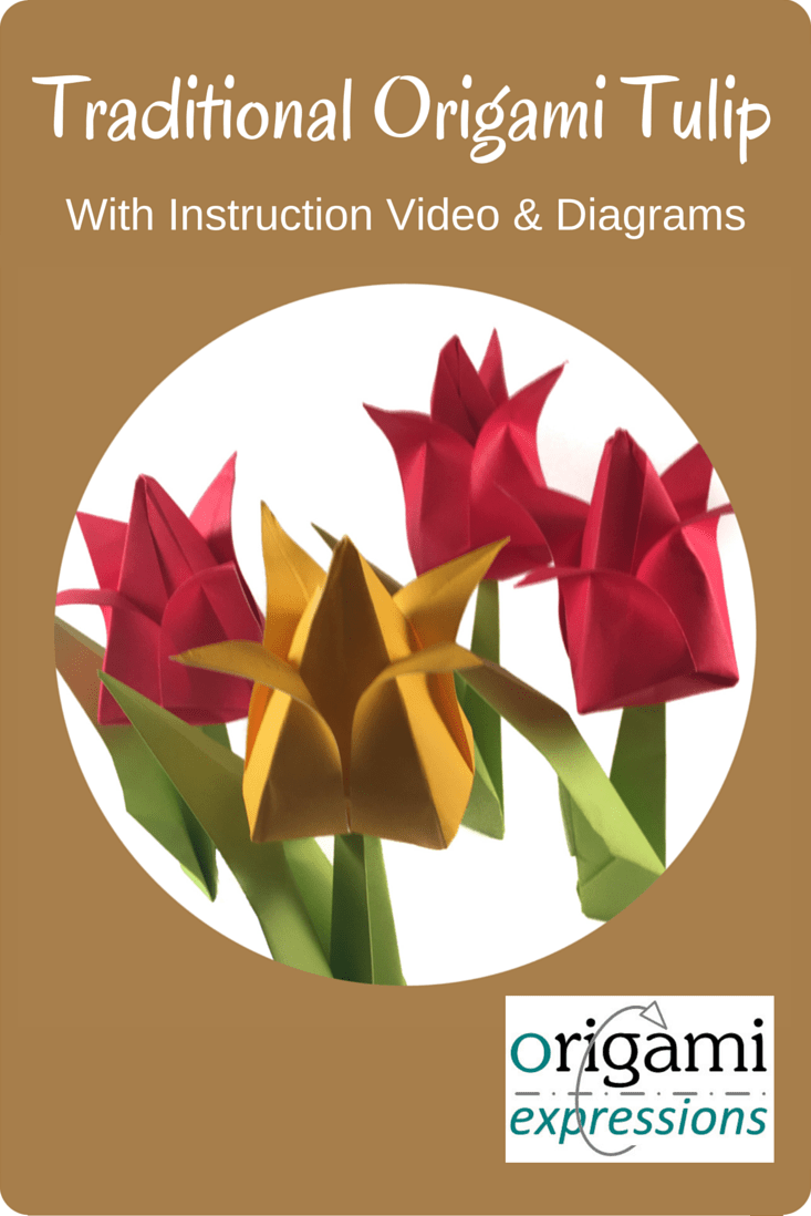 Information about the traditional origami Tulip. Includes what it's like to make, recommendations on paper choice, & an instructional video