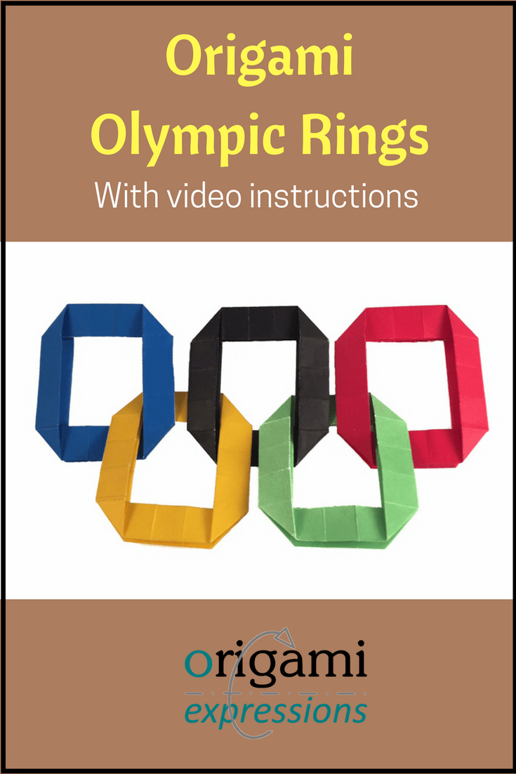 How to make your own simple version of the Olympic Rings out of origami. Includes video instructions. | Origami Olympic Rings | Paper Olympic Rings | Origami Video Instructions Easy | Origami Easy | Origami Video Tutorials | Origami Easy Step by Step | Origami videos youtube