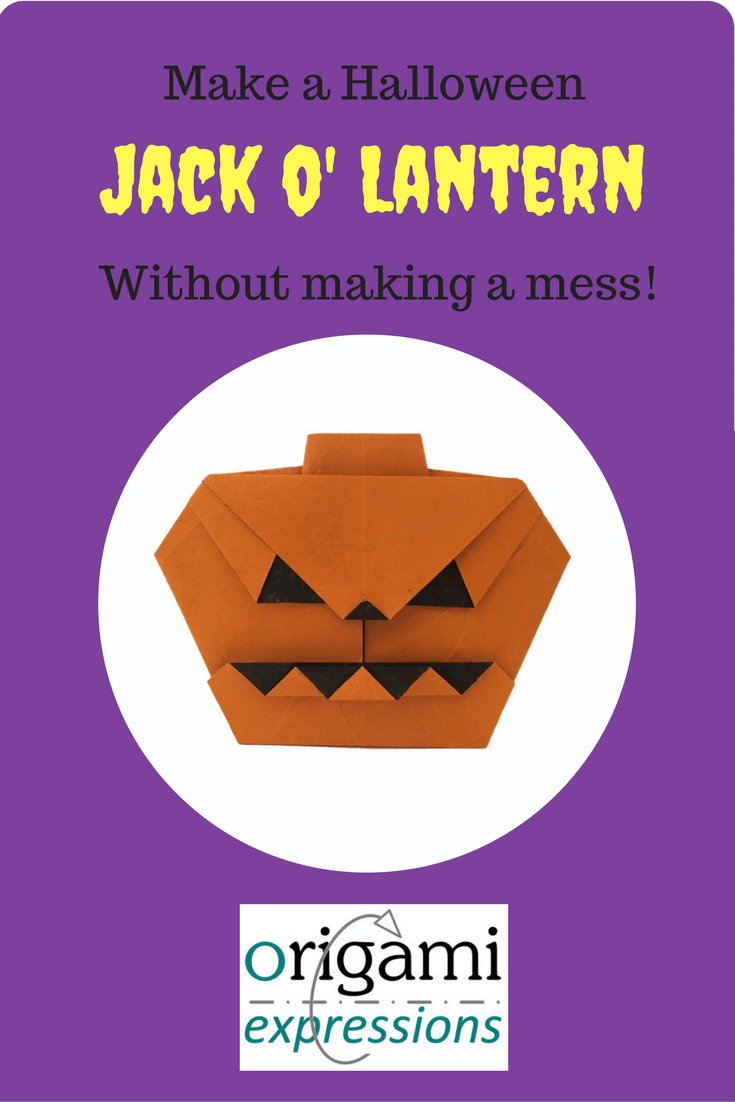 Review of Anita Barbour's origami Jack o' Lantern - great for kids for Halloween! Includes what paper to use and where to get the diagrams.