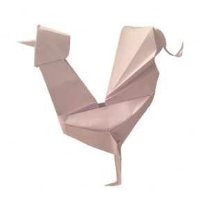 "Origami Rooster, designer unknown ""Happy Year of the Origami Rooster!"" - origamiexpressions.com"