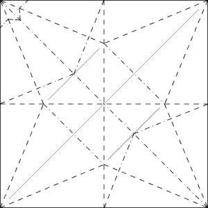 Flapping Bird Crease Pattern - origamiexpressions.com