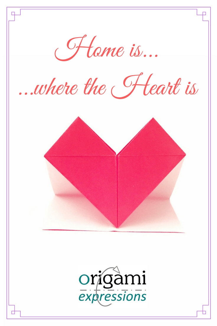 Happy Valentines Day from Origami Expressions! A review of Tricia Tait's HIWTHI origami heart. Paper choice, & where to find the diagrams