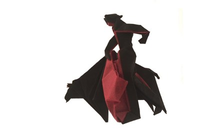 An Origami Matador in Action!