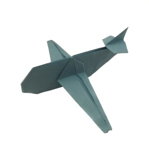 "Origami Airplane designed by Jo Nakashima ""Up, Up, and Away with an Origami Aeroplane"" origamiexpressions.com"