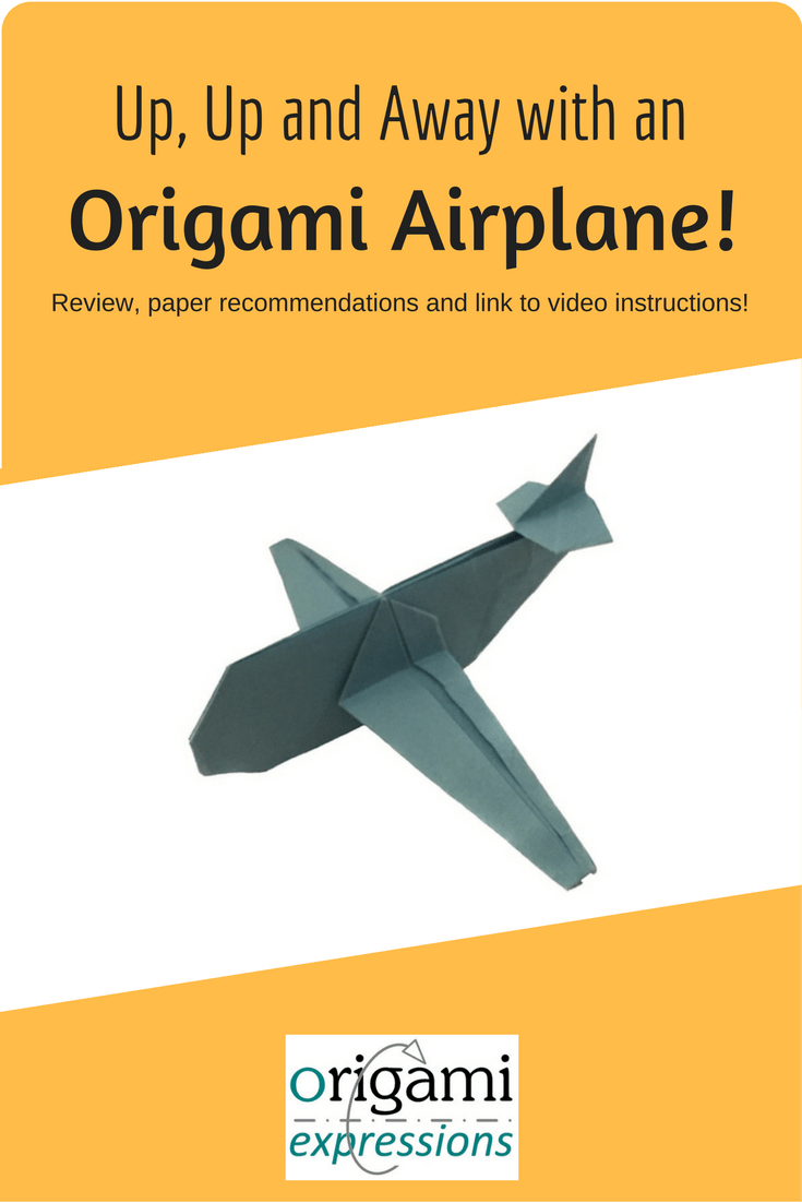 Learn to fold Jo Nakashima's origami airplane! A review of the model, thoughts on folding it, paper to use, & link to the instruction video