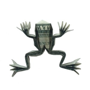 "Rudolf Deeg Money Origami Frog ""origamiexpressions.com"""
