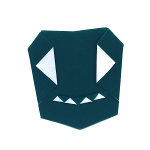 """Mr Origami Ghost by Stephane Gigandet """"Origami for Halloween"""" origamiexpressions.com"""