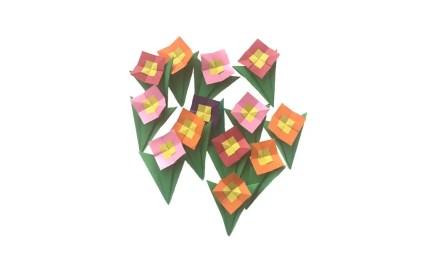 A Simple Origami Pocket Posy