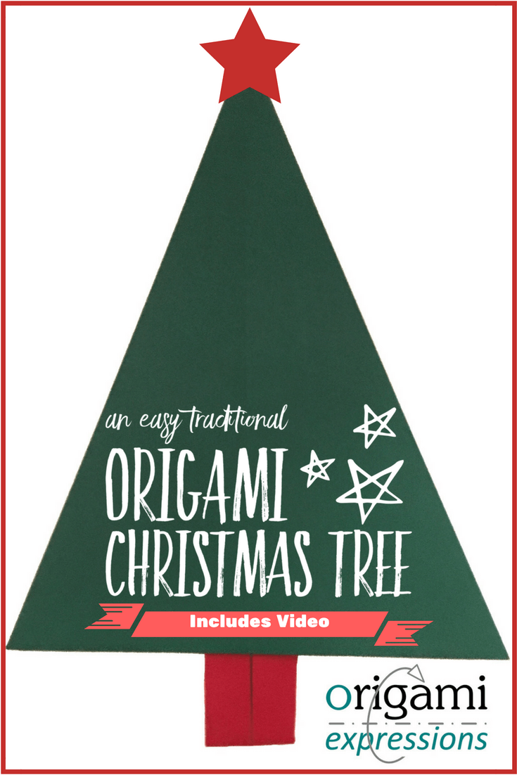 an easy traditional origami christmas tree origami