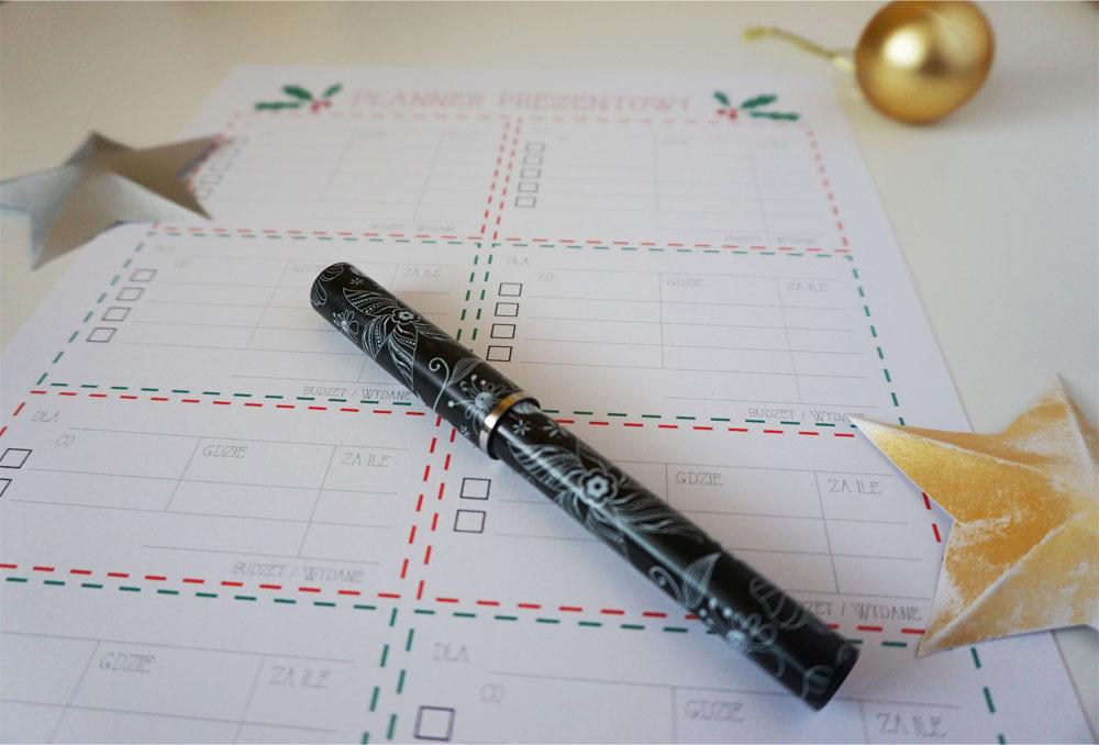 Świąteczny planer prezentowy do druku