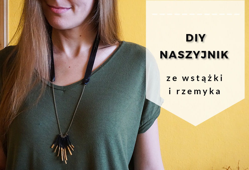 DIY Etno Naszyjnik ze wstążki i rzemyka - Biżuteria zrób to sam