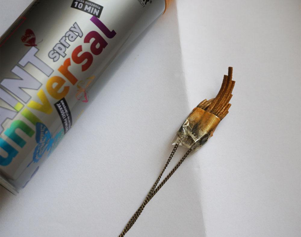 DIY Naszyjnik ze wstążki i rzemyka