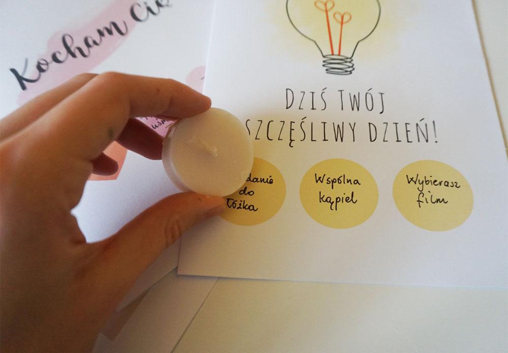 DIY Walentynki do druku Miłosna kartka zdrapka 3 wzory do druku