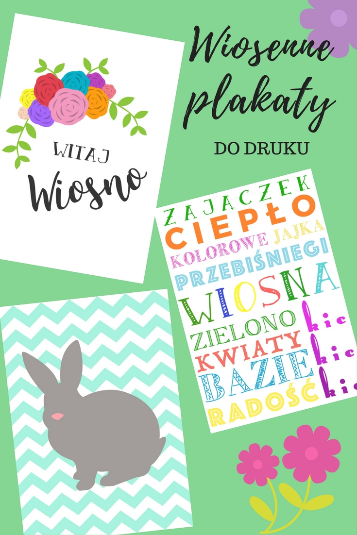 Wiosenne plakaty do druku // Printable spring posters