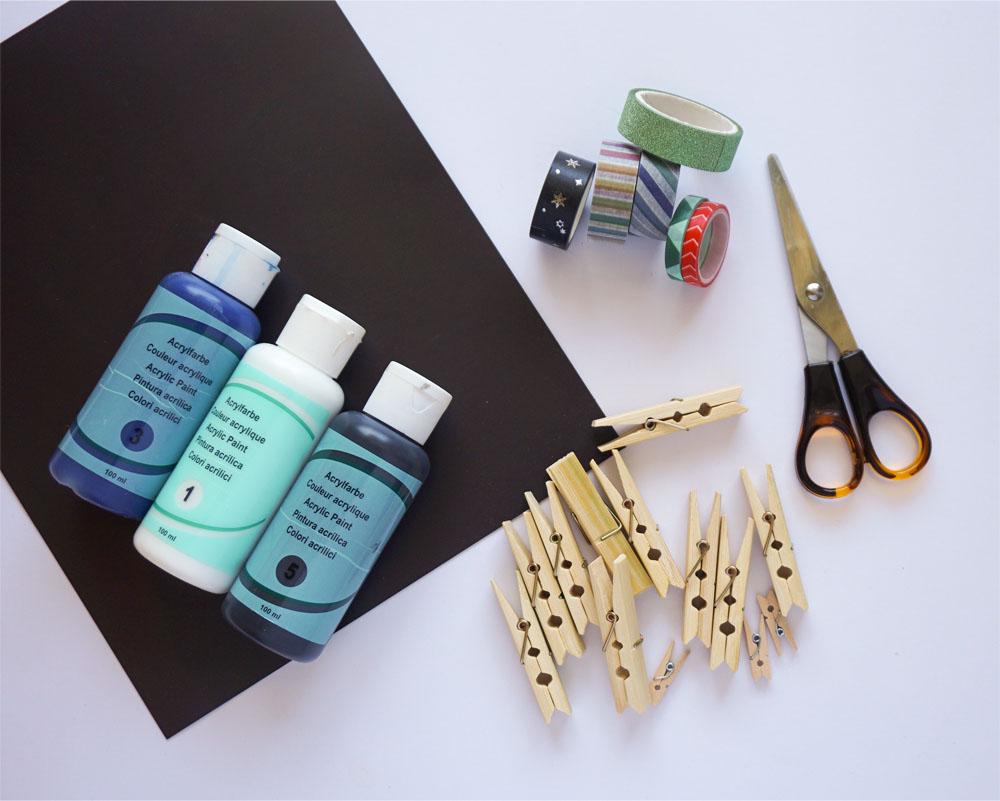 DIY Magnesy na lodówkę z drewnianych klamerek
