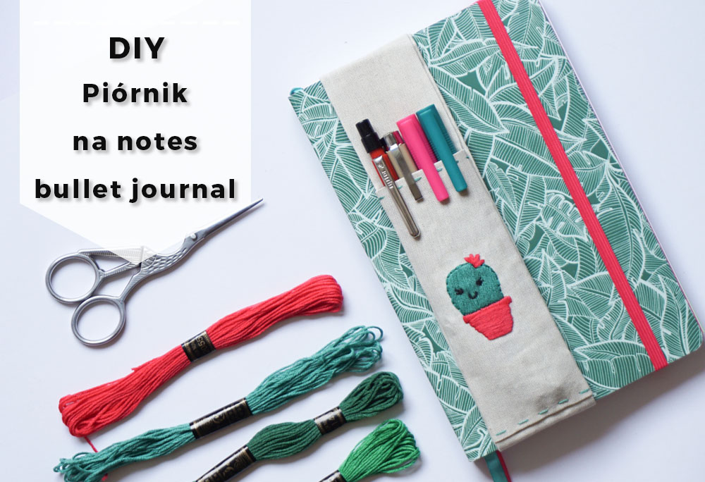 DIY Piórnik z gumką zakładany na notes bullet journal