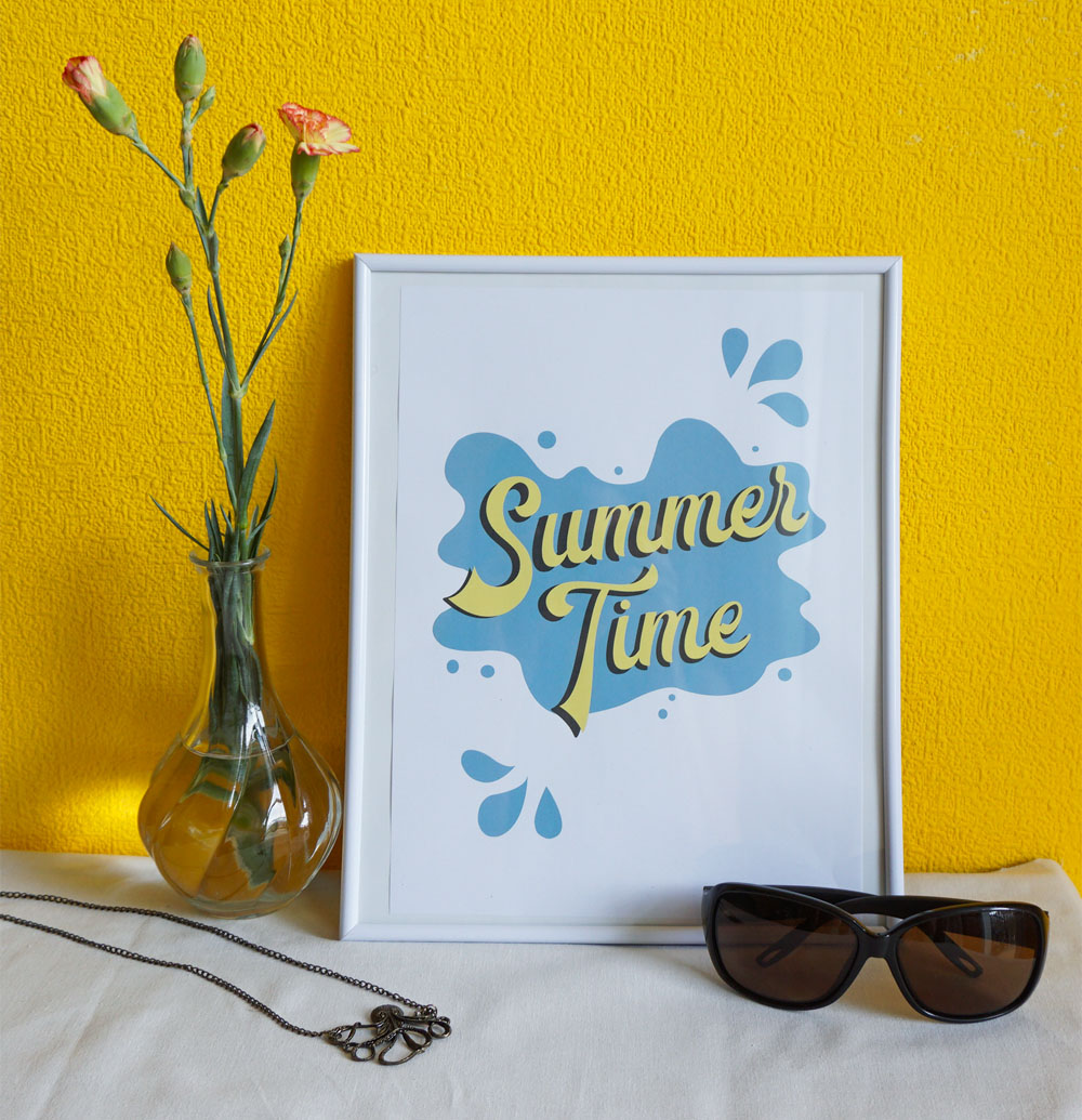 Plakaty do druku na lato - Summer Time