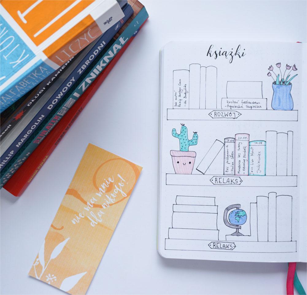 Listy i kolekcje w moim bullet journal - książki do przeczytania