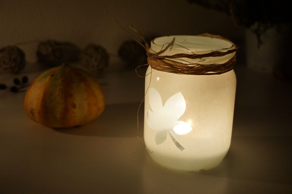 DIY Prosty jesienny lampion