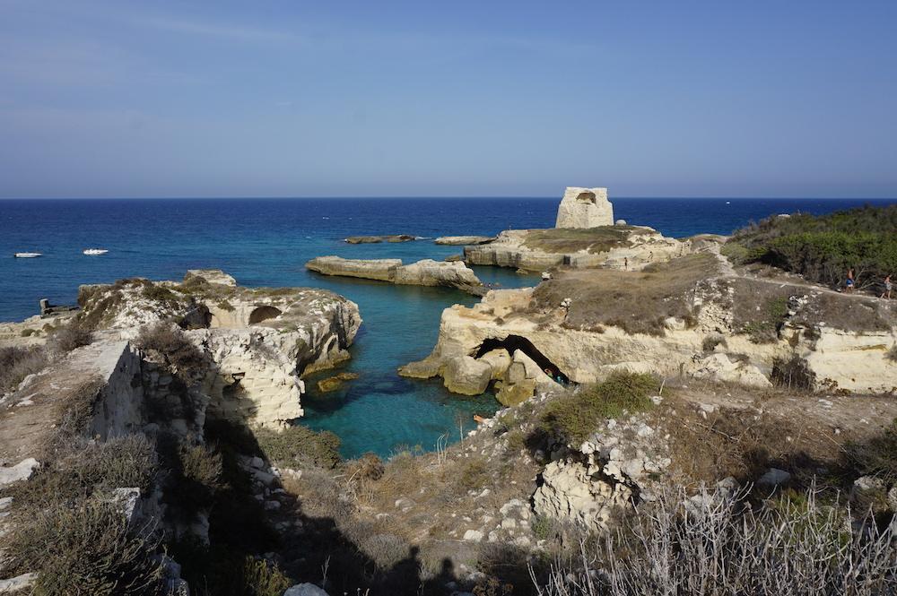 Plaże Apulii - Puglia co zwiedzić - Torre di Roca Vecchia
