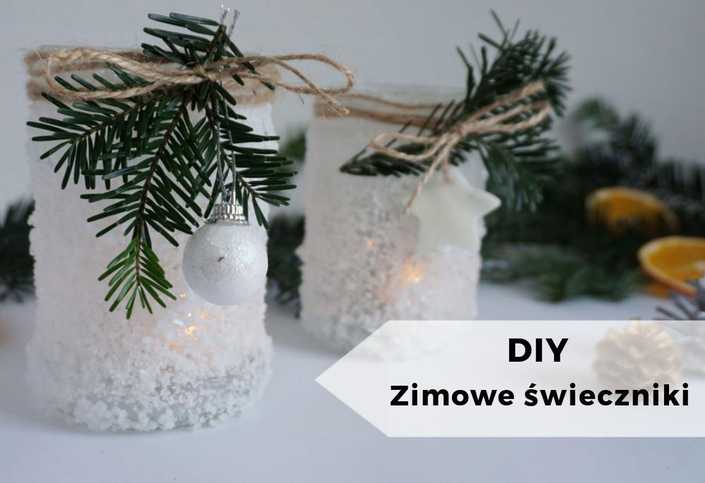 DIY Zimowe świeczniki – lodowe lampiony