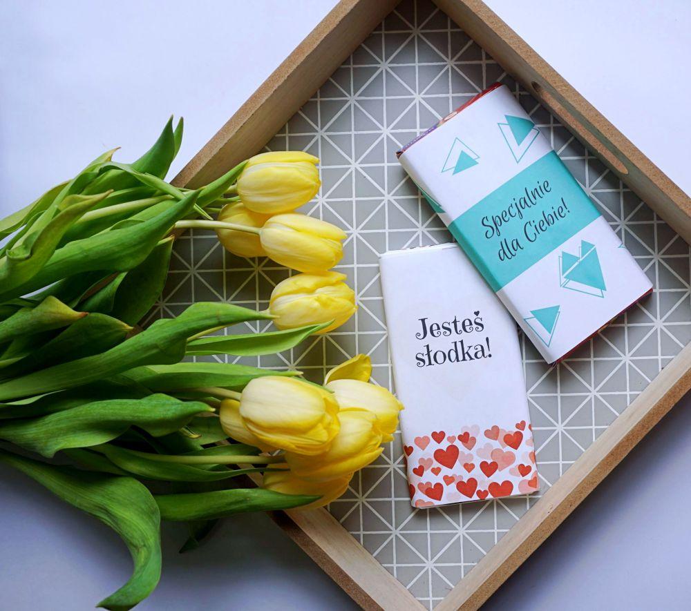 DIY Miłosne etykiety na czekoladę do druku prosty prezent
