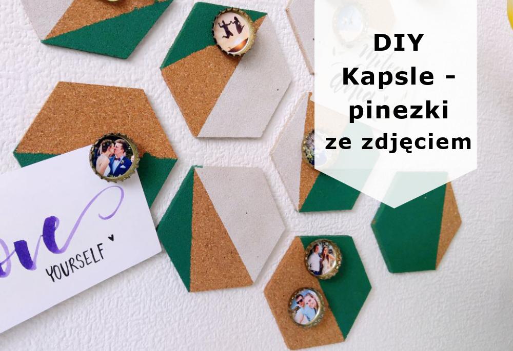 DIY Pinezki-kapsle ze zdjęciem