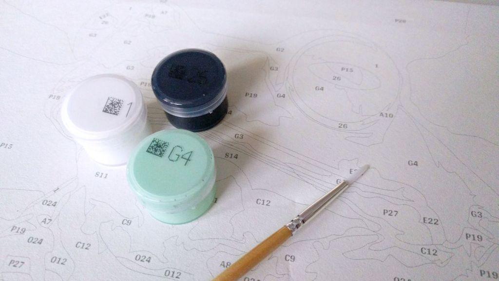 Malowanie po numerach - farby akrylowe
